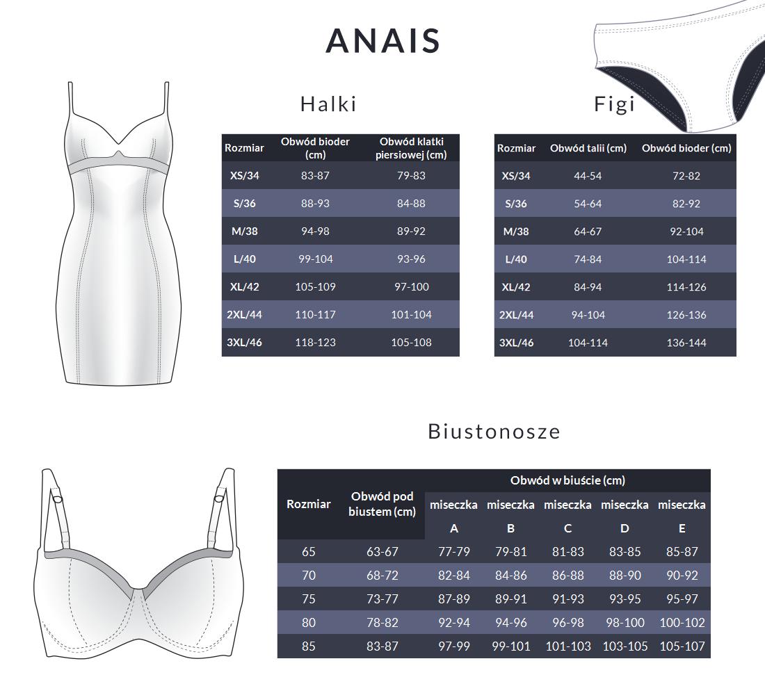 Tabela rozmiarów - Anais