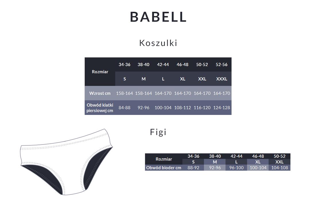 Tabela rozmiarów - Babell