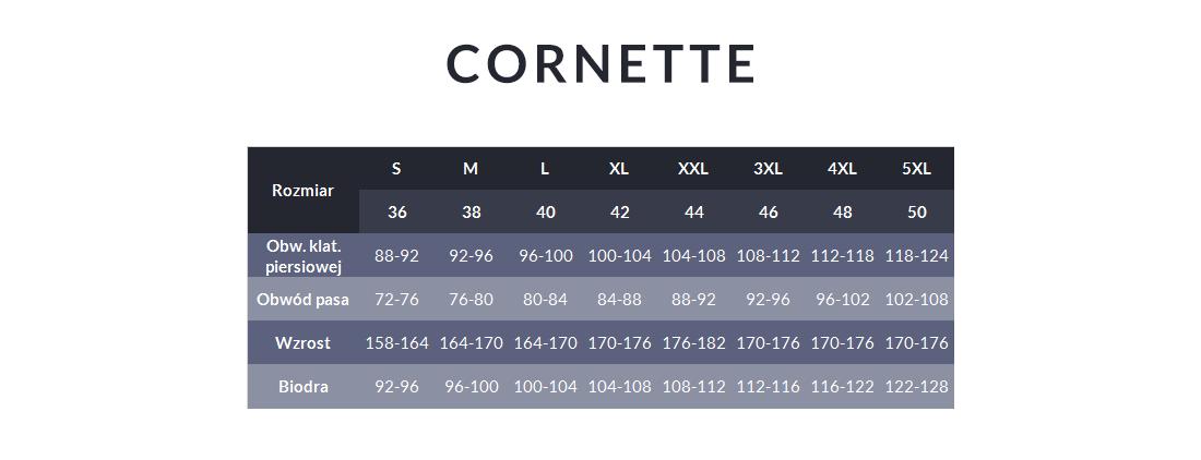 Tabela rozmiarów - Cornette