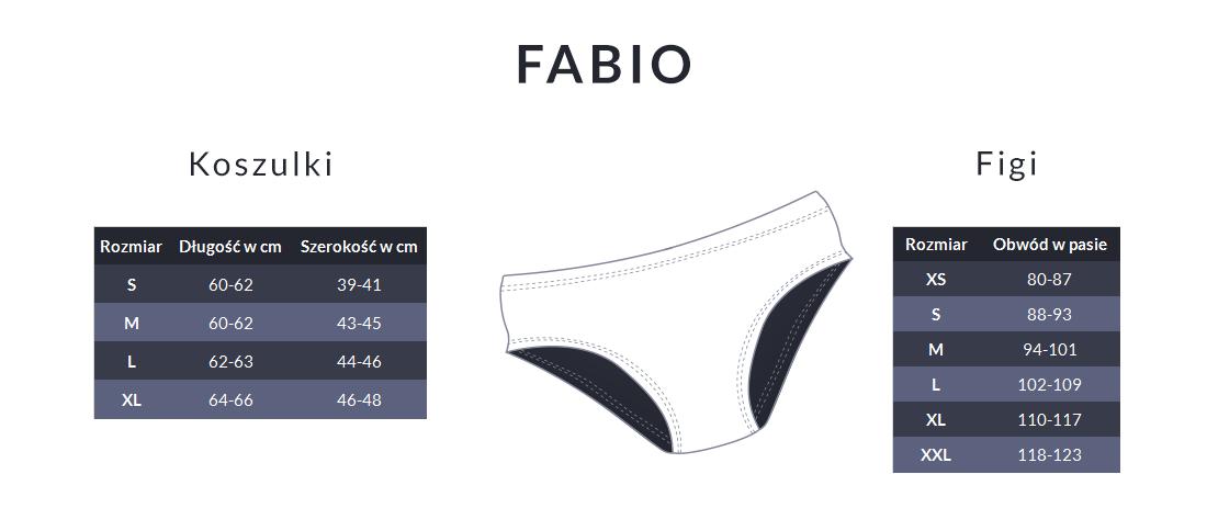 Tabela rozmiarów - Fabio