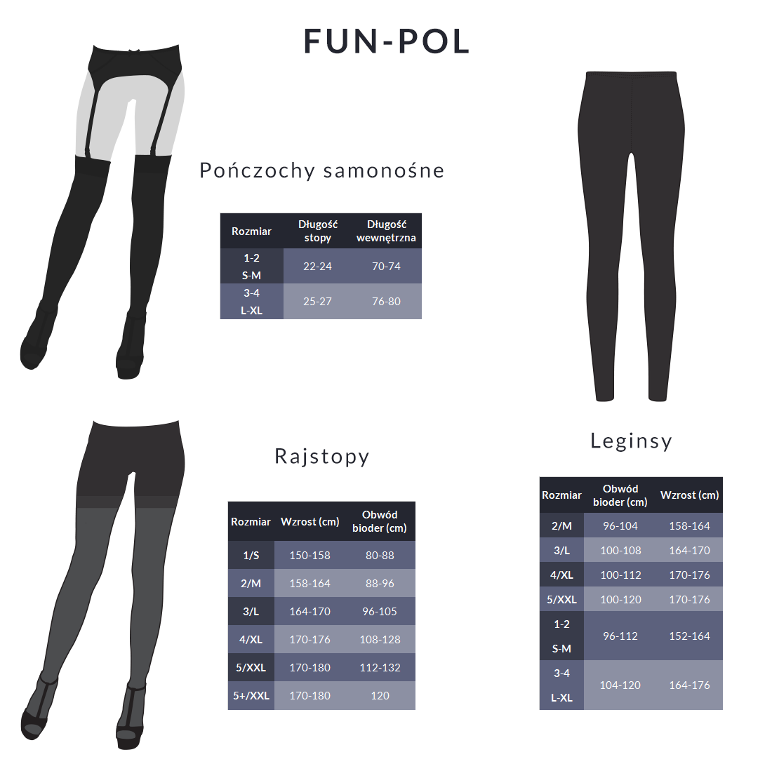 Tabela rozmiarów - Fun-pol