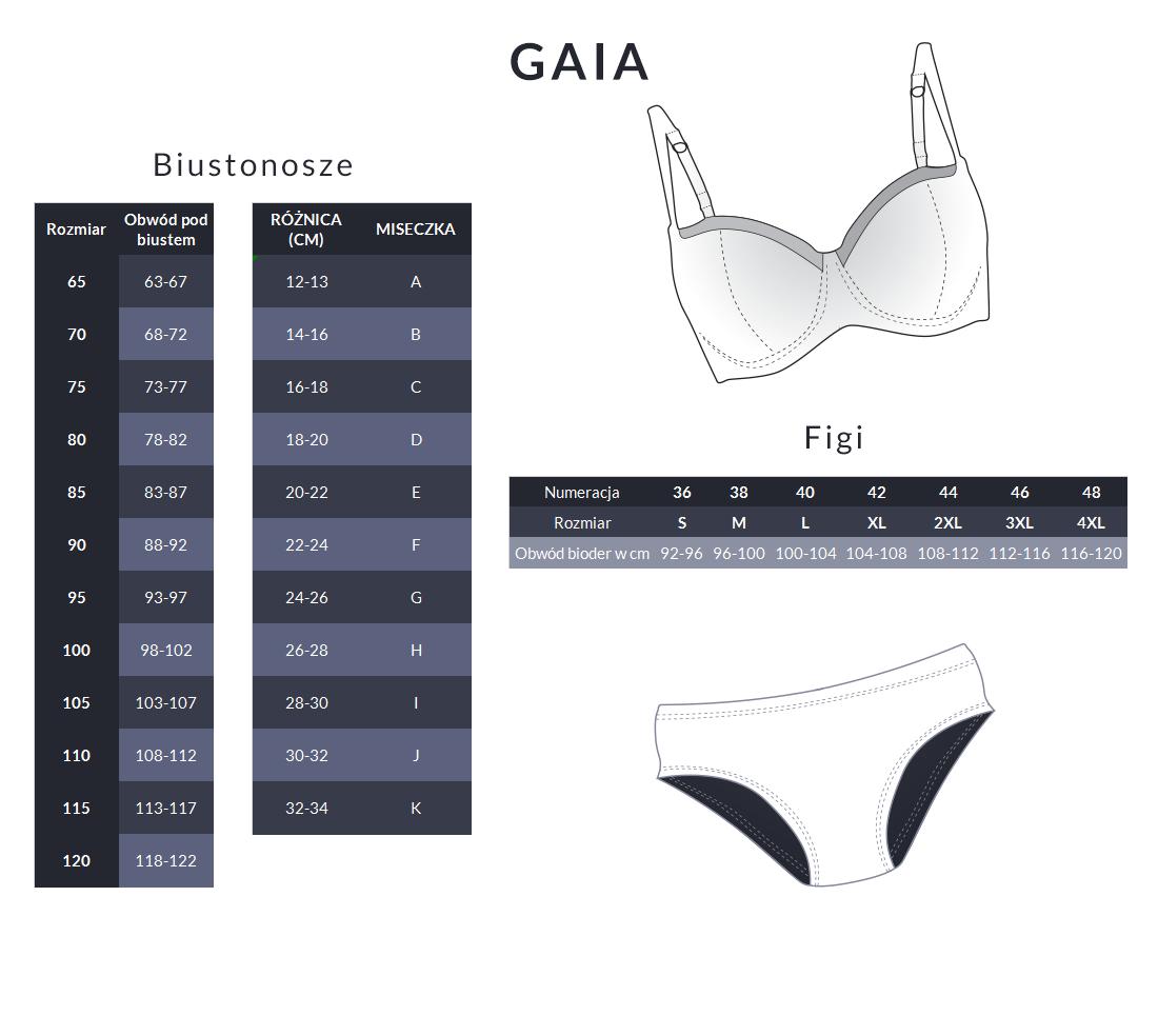 Tabela rozmiarów - Gaia