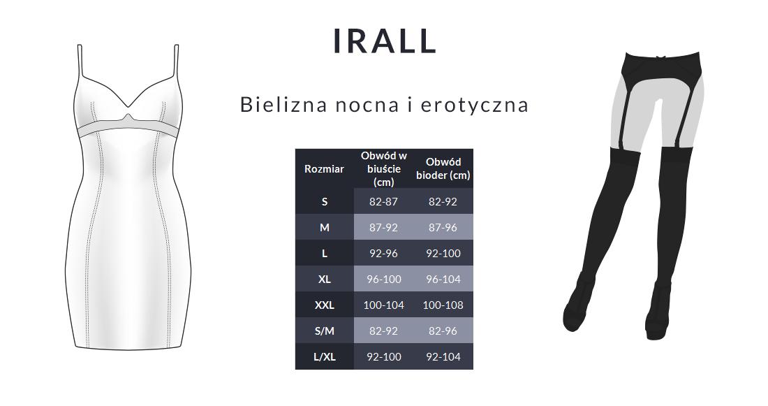 Tabela rozmiarów - Irall