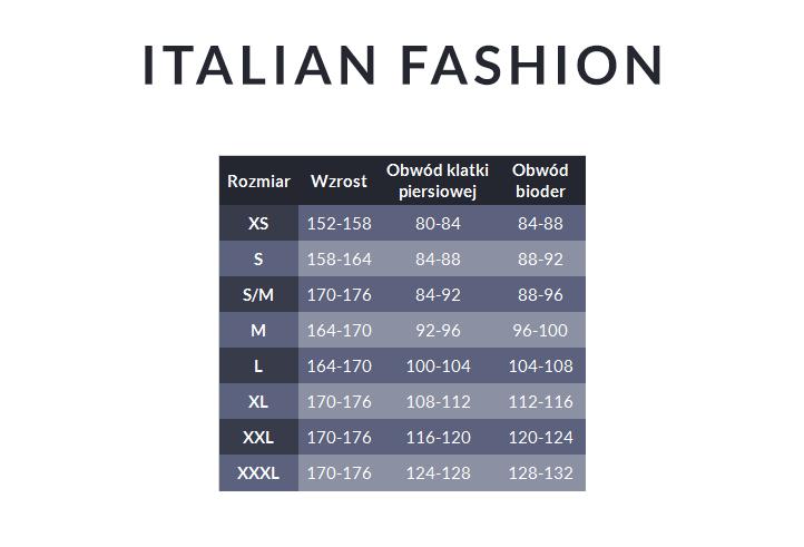 Tabela rozmiarów - Italian Fashion
