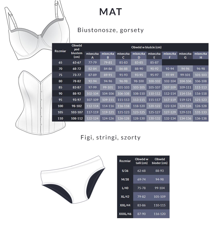 Tabela rozmiarów - Mat
