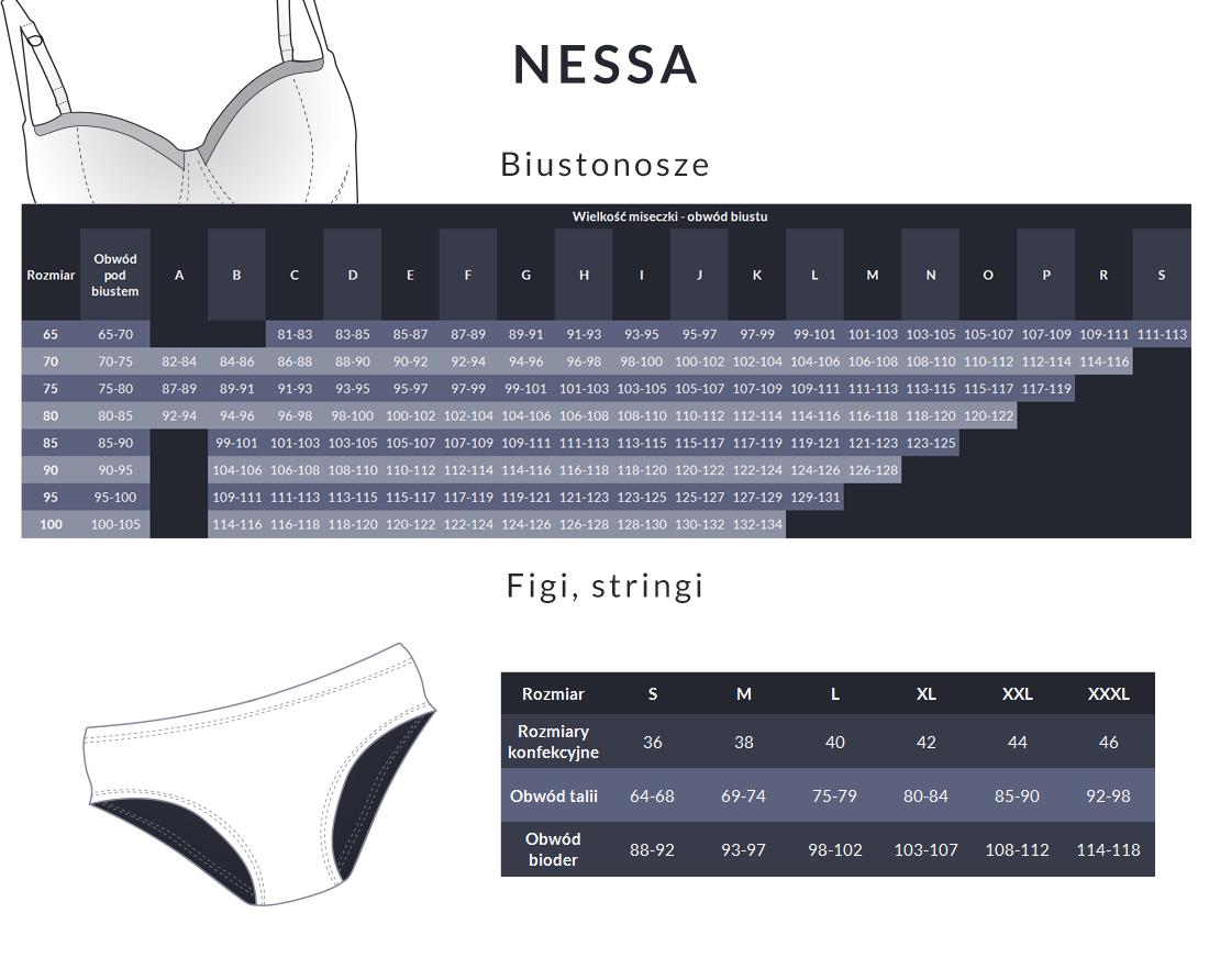 Tabela rozmiarów - Nessa