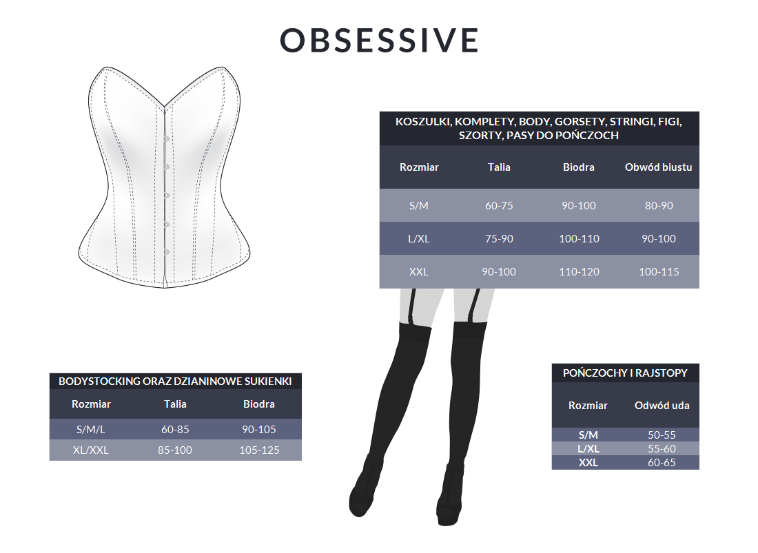 Tabela rozmiarów - Obsessive